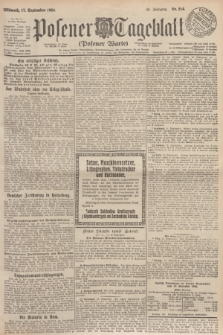 Posener Tageblatt (Posener Warte). Jg.63, Nr. 214 (17 September 1924)