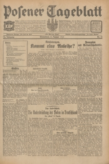 Posener Tageblatt. Jg.70, Nr. 13 (17 Januar 1931) + dod.