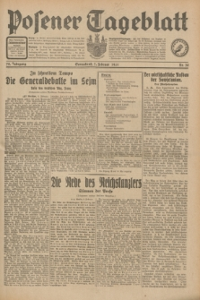 Posener Tageblatt. Jg.70, Nr. 30 (7 Februar 1931) + dod.
