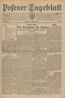 Posener Tageblatt. Jg.70, Nr. 33 (11 Februar 1931) + dod.