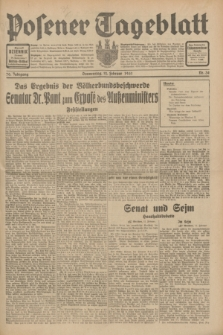Posener Tageblatt. Jg.70, Nr. 34 (12 Februar 1931) + dod.