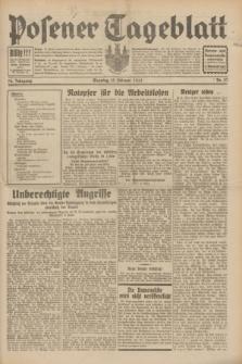 Posener Tageblatt. Jg.70, Nr. 37 (15 Februar 1931) + dod.