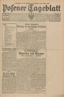 Posener Tageblatt. Jg.70, Nr. 49 (1 März 1931) + dod. [po konfiskacie]