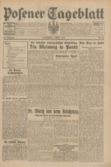 Posener Tageblatt. Jg.70, Nr. 54 (7 März 1931) + dod.
