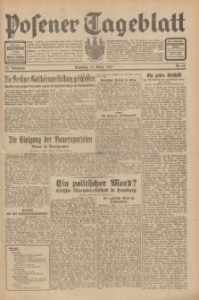 Posener Tageblatt. Jg.70, Nr. 62 (17 März 1931) + dod.