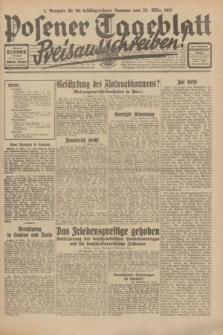 Posener Tageblatt. Jg.70, Nr. 72 (28 März 1931) + dod. [po konfiskacie]