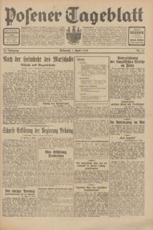Posener Tageblatt. Jg.70, Nr. 75 (1 April 1931) + dod.