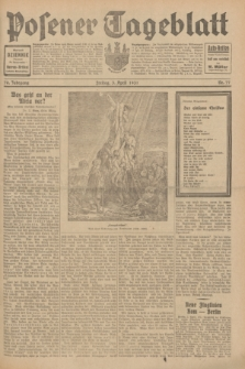 Posener Tageblatt. Jg.70, Nr. 77 (3 April 1931) + dod.