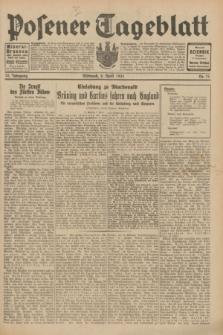Posener Tageblatt. Jg.70, Nr. 79 (8 April 1931) + dod.