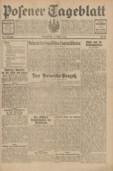 Posener Tageblatt. Jg.70, Nr. 82 (11 April 1931) + dod.