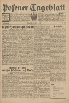 Posener Tageblatt. Jg.70, Nr. 85 (15 April 1931) + dod.