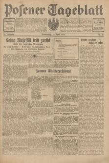 Posener Tageblatt. Jg.70, Nr. 86 (16 April 1931) + dod.