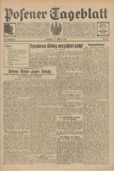 Posener Tageblatt. Jg.70, Nr. 87 (17 April 1931) + dod.