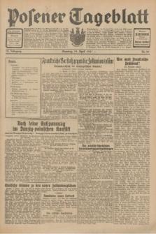 Posener Tageblatt. Jg.70, Nr. 89 (19 April 1931) + dod.