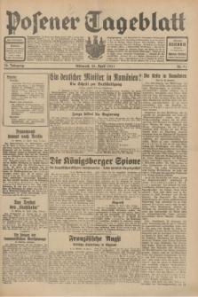Posener Tageblatt. Jg.70, Nr. 91 (22 April 1931) + dod.