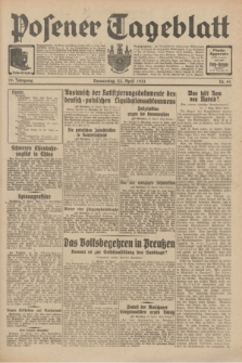 Posener Tageblatt. Jg.70, Nr. 92 (23 April 1931) + dod.