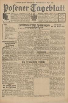 Posener Tageblatt. Jg.70, Nr. 94 (25 April 1931) + dod. [po konfiskacie]