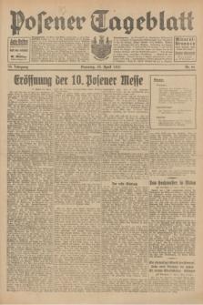 Posener Tageblatt. Jg.70, Nr. 96 (28 April 1931) + dod.