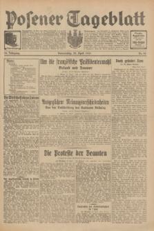 Posener Tageblatt. Jg.70, Nr. 98 (30 April 1931) + dod.