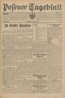 Posener Tageblatt. Jg.70, Nr. 113 (19 Mai 1931) + dod.
