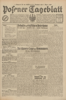 Posener Tageblatt. Jg.70, Nr. 174 (1 August 1931) + dod. [po konfiskacie]