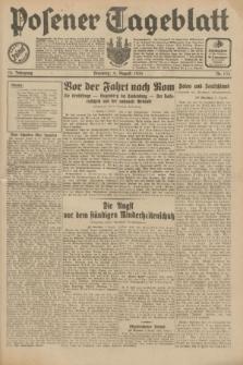 Posener Tageblatt. Jg.70, Nr. 176 (4 August 1931) + dod.