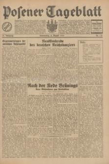 Posener Tageblatt. Jg.70, Nr. 178 (6 August 1931) + dod.