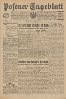 Posener Tageblatt. Jg.70, Nr. 180 (8 August 1931) + dod.