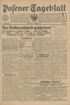 Posener Tageblatt. Jg.70, Nr. 182 (11 August 1931) + dod.