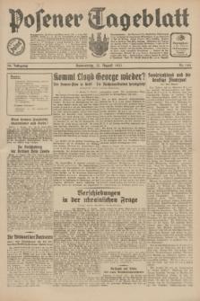 Posener Tageblatt. Jg.70, Nr. 184 (13 August 1931) + dod.