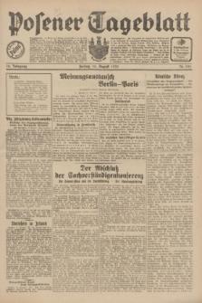 Posener Tageblatt. Jg.70, Nr. 185 (14 August 1931) + dod.