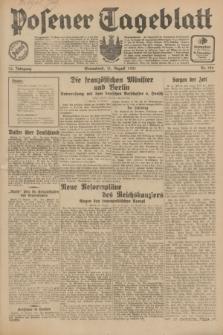Posener Tageblatt. Jg.70, Nr. 186 (15 August 1931) + dod.