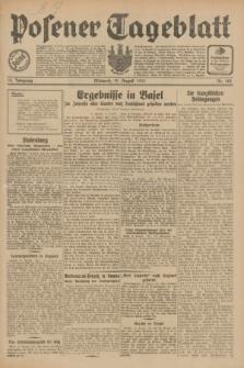 Posener Tageblatt. Jg.70, Nr. 188 (19 August 1931) + dod.