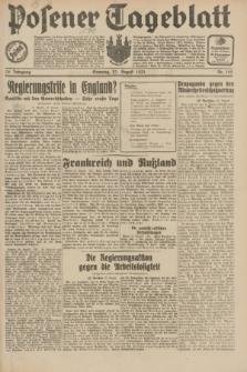 Posener Tageblatt. Jg.70, Nr. 192 (23 August 1931) + dod.
