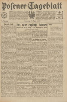 Posener Tageblatt. Jg.70, Nr. 195 (27 August 1931) + dod.