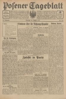 Posener Tageblatt. Jg.70, Nr. 198 (30 August 1931) + dod.