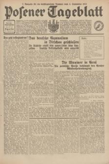 Posener Tageblatt. Jg.70, Nr. 202 (4 September 1931) + dod. [po konfiskacie]