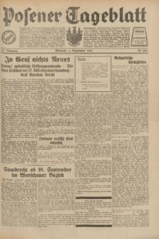 Posener Tageblatt. Jg.70, Nr. 206 (9 September 1931) + dod.
