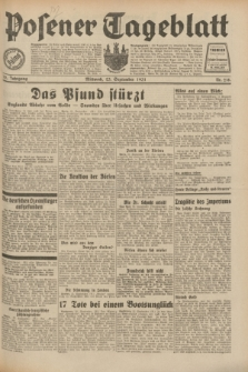Posener Tageblatt. Jg.70, Nr. 218 (23 September 1931) + dod.