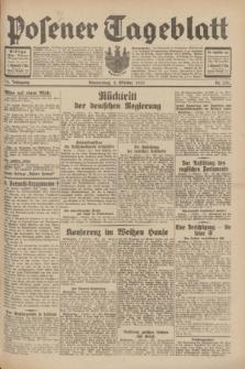 Posener Tageblatt. Jg.70, Nr. 231 (8 Oktober 1931) + dod.