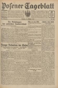 Posener Tageblatt. Jg.70, Nr. 240 (18 Oktober 1931) + dod.