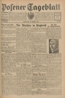 Posener Tageblatt. Jg.70, Nr. 249 (29 Oktober 1931) + dod.