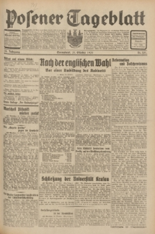 Posener Tageblatt. Jg.70, Nr. 251 (31 Oktober 1931) + dod.