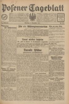 Posener Tageblatt. Jg.70, Nr. 253 (3 November 1931) + dod.