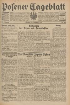 Posener Tageblatt. Jg.70, Nr. 260 (11 November 1931) + dod.