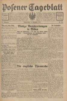 Posener Tageblatt. Jg.70, Nr. 261 (12 November 1931) + dod.