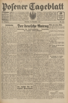 Posener Tageblatt. Jg.70, Nr. 270 (22 November 1931) + dod.