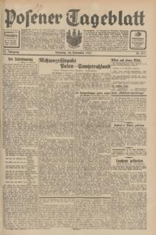 Posener Tageblatt. Jg.70, Nr. 271 (24 November 1931) + dod.