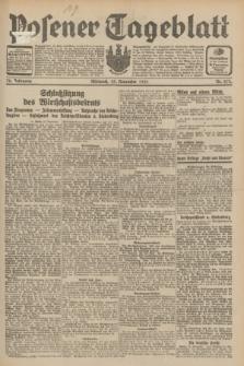 Posener Tageblatt. Jg.70, Nr. 272 (25 November 1931) + dod.