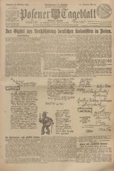 Posener Tageblatt (Posener Warte). Jg.64, Nr. 44 (22 Februar 1925) + dod.